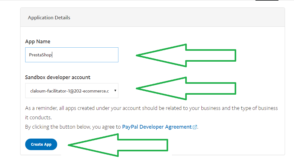 How to create app REST API for PayPal Plus - 202-ecommerce